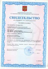 Свидетельство об утверждении типа средств измерений RU.C.29.001.A 53873/1